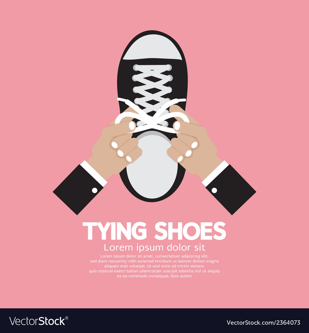 Tying shoes vector | Price: 1 Credit (USD $1)
