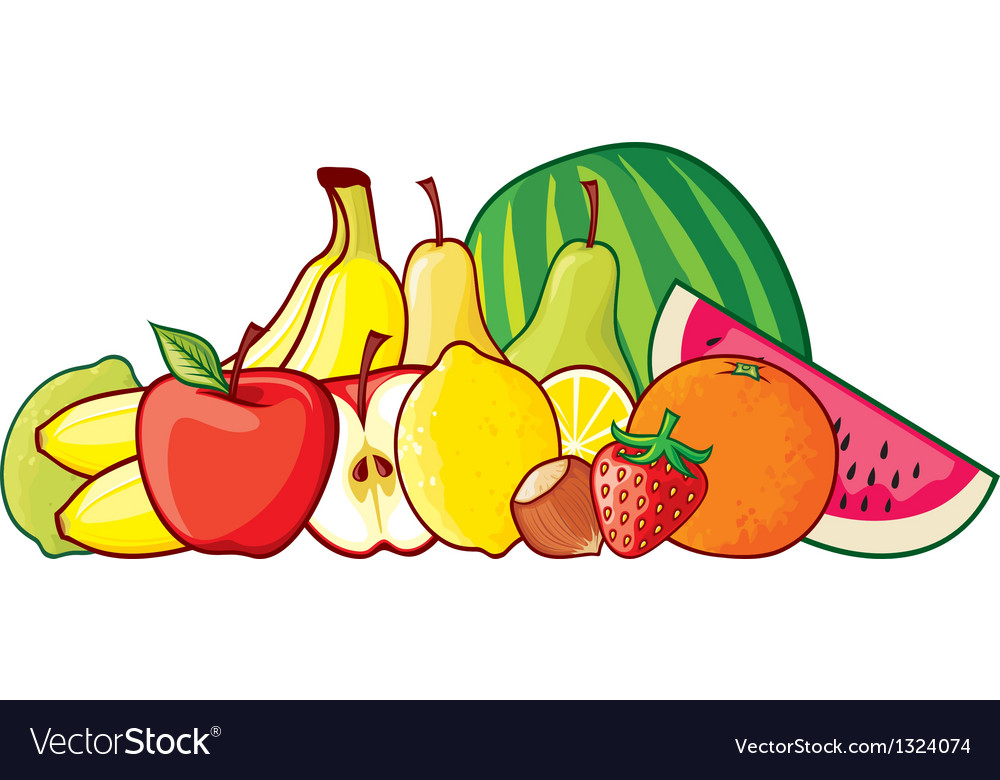 A group of fruits vector | Price: 1 Credit (USD $1)