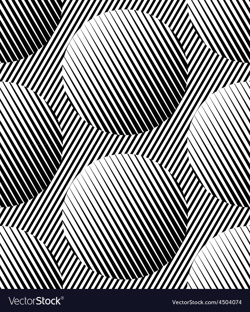 Abstract striped circles geometric seamless vector | Price: 1 Credit (USD $1)