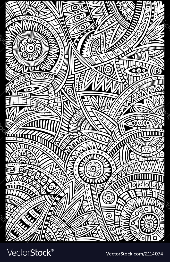Abstract tribal ethnic background pattern vector   Price: 1 Credit (USD $1)