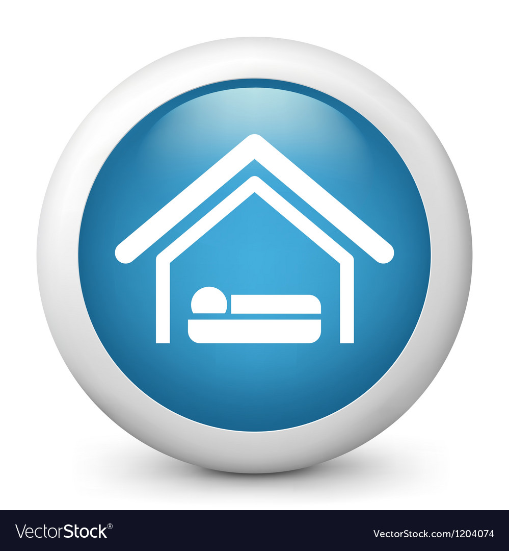 Accommodation glossy icon vector | Price: 1 Credit (USD $1)