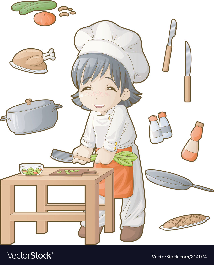 Chibi professions sets cook vector | Price: 3 Credit (USD $3)