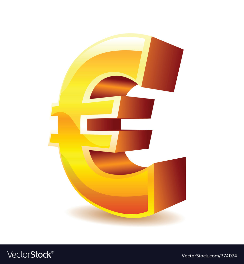Euro sign vector | Price: 1 Credit (USD $1)