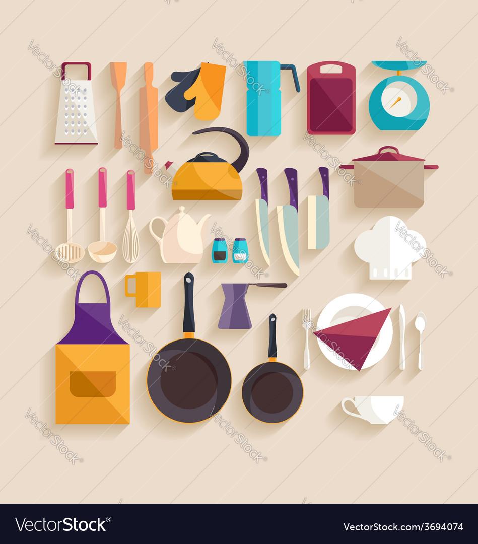 Kitchenware set vector   Price: 1 Credit (USD $1)