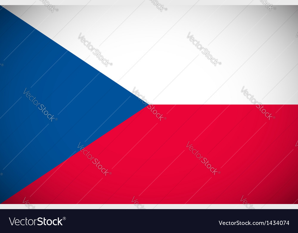 National flag of the czech republic vector