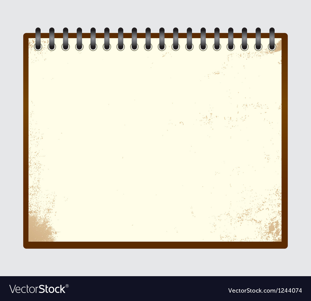 Notebook 001 vector | Price: 1 Credit (USD $1)