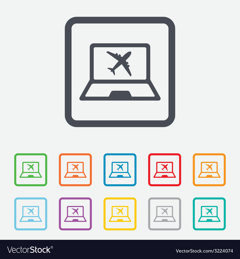 Online check-in sign airplane symbol travel vector | Price: 1 Credit (USD $1)