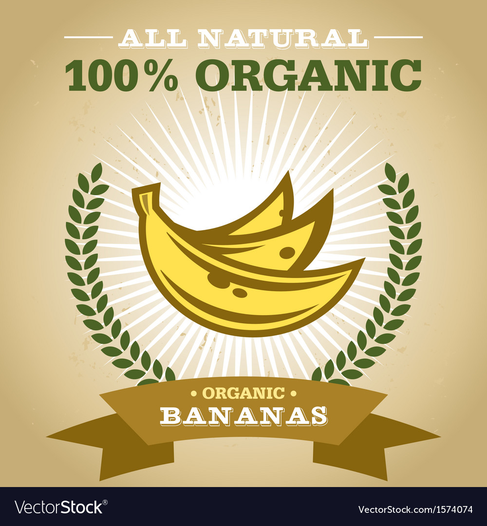 Organic banana vector | Price: 1 Credit (USD $1)