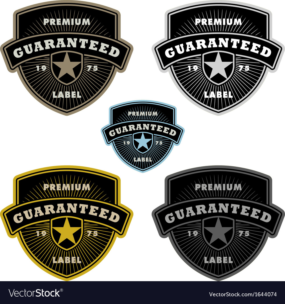Shield label vector | Price: 1 Credit (USD $1)