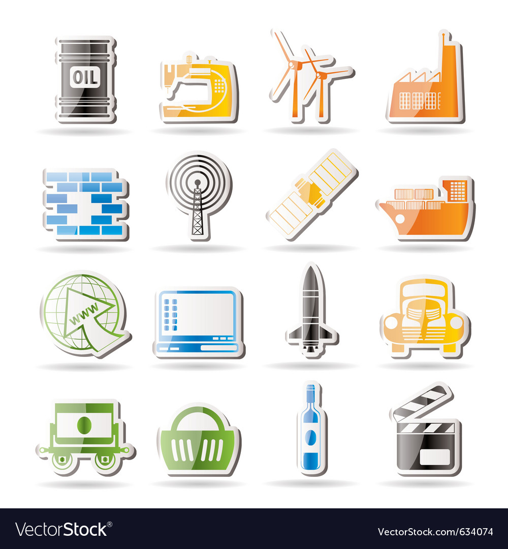 Simple business and industry icons vector | Price: 1 Credit (USD $1)