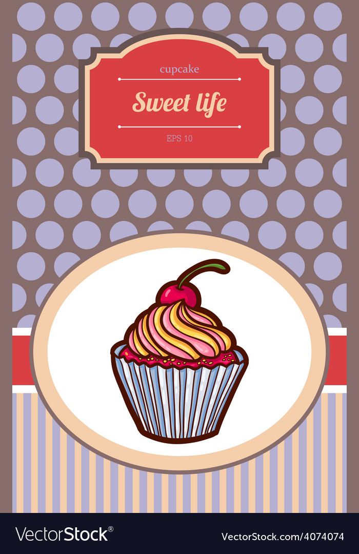 Tasty cake vector | Price: 1 Credit (USD $1)
