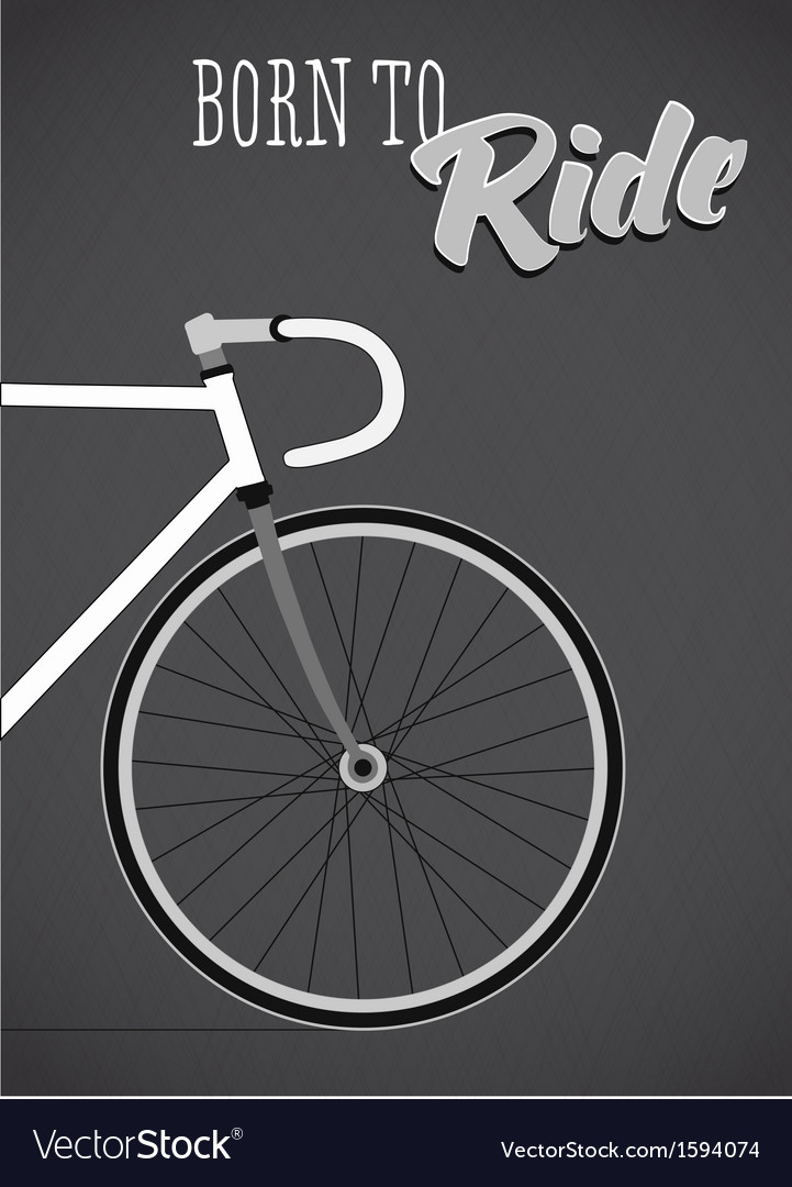 Template with bicycle theme vector | Price: 1 Credit (USD $1)