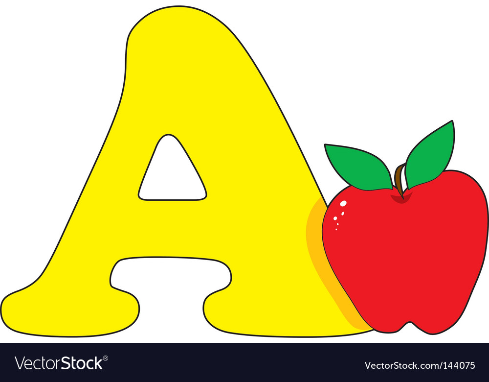 A is for apple vector