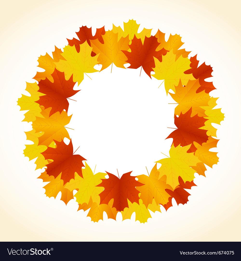 Autumn leaves wreath vector | Price: 1 Credit (USD $1)