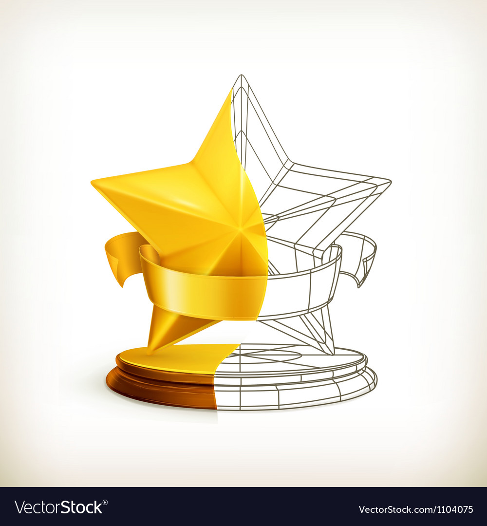Award half stars vector | Price: 1 Credit (USD $1)