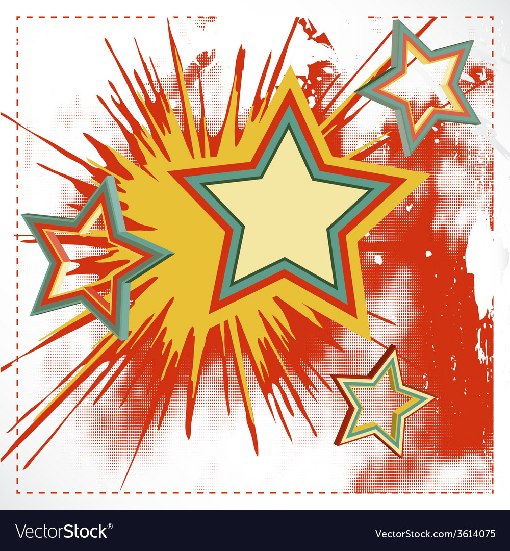 Background of explosion star vector | Price: 1 Credit (USD $1)