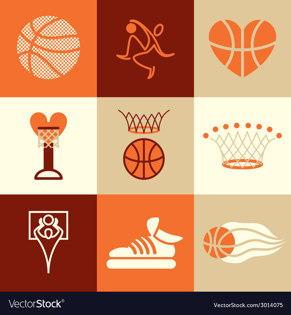 Basketball logo icons vector | Price: 1 Credit (USD $1)