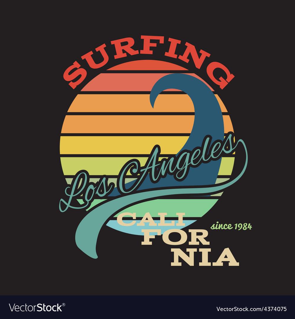 California surf t-shirt graphics vector   Price: 1 Credit (USD $1)