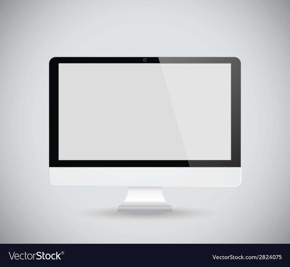 Computer display vector | Price: 1 Credit (USD $1)