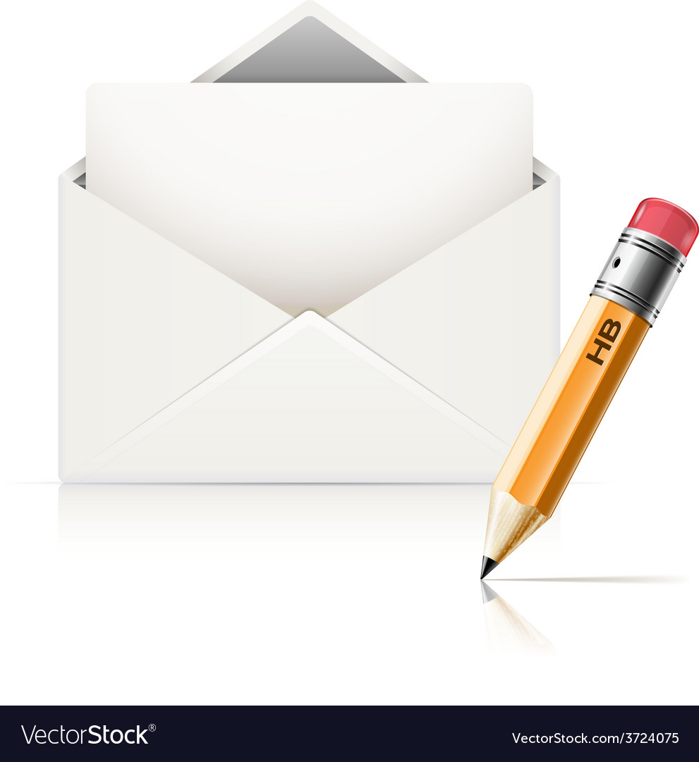 Envelope end pencil vector | Price: 1 Credit (USD $1)