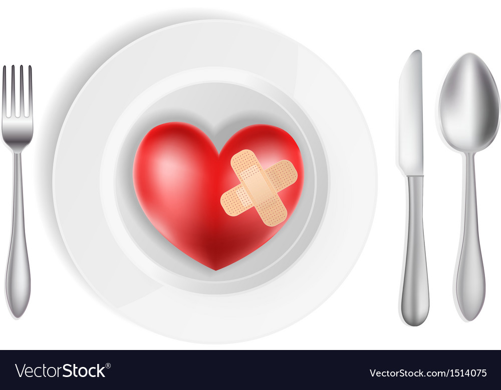 Heart on a plate vector | Price: 3 Credit (USD $3)