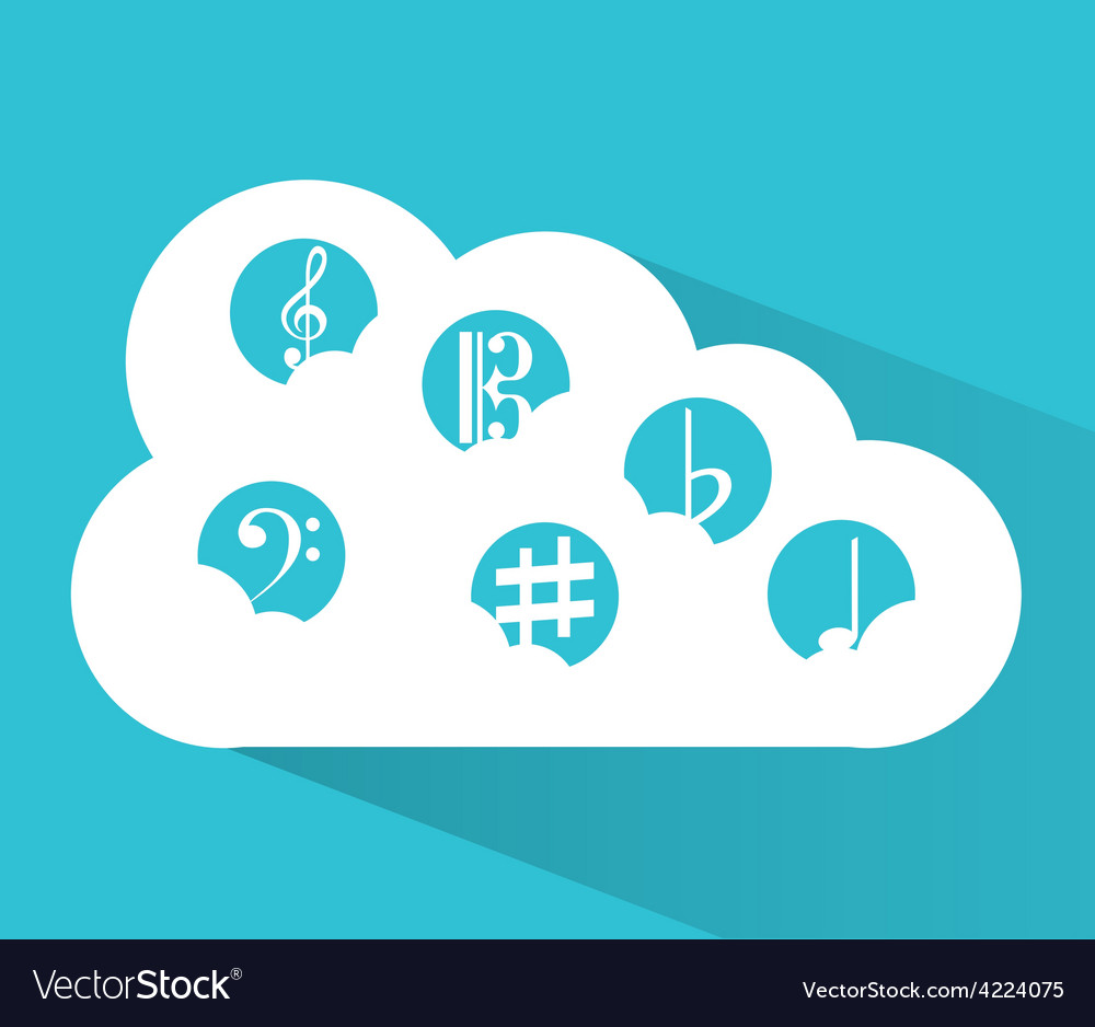Music cloud vector | Price: 1 Credit (USD $1)
