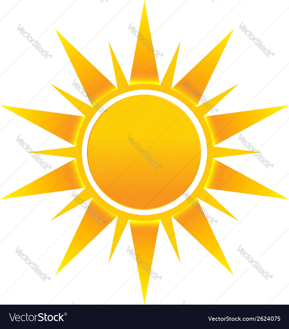 Shinny sun image logo icon vector | Price: 1 Credit (USD $1)