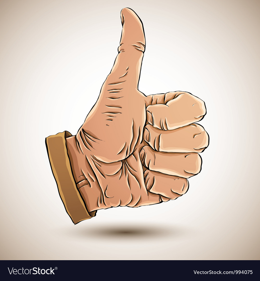 Thumb up like hand vector | Price: 1 Credit (USD $1)