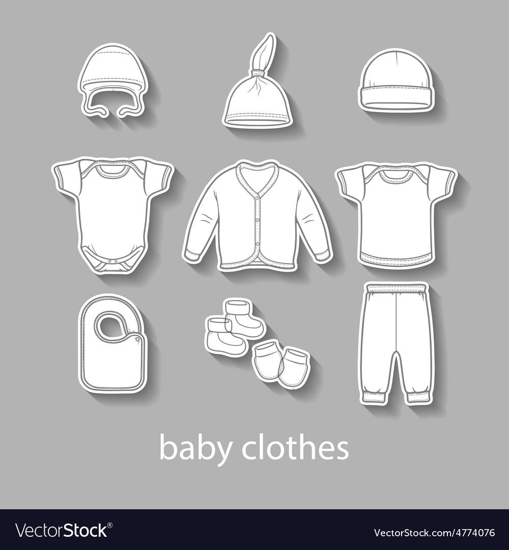 Baby fashion clothing fashion shirt design wear vector | Price: 1 Credit (USD $1)