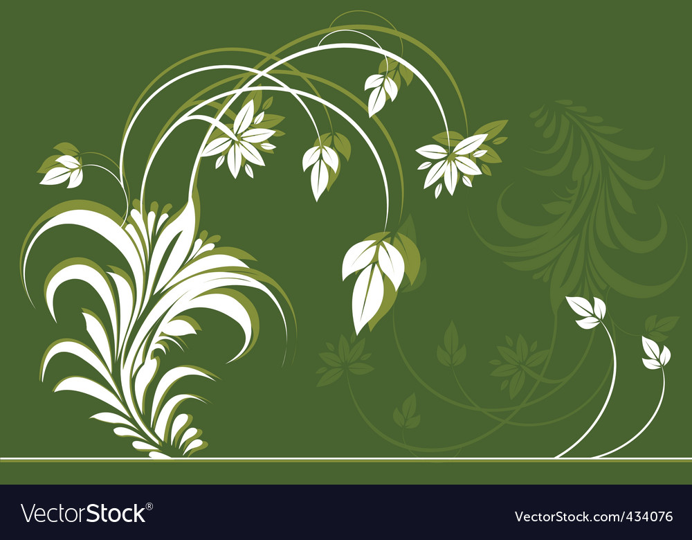 Flower and leave vector | Price: 1 Credit (USD $1)