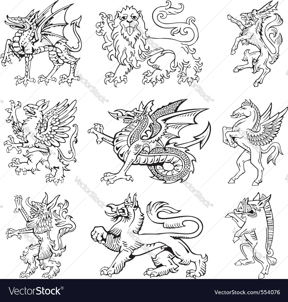 Heraldic monsters vol iii vector