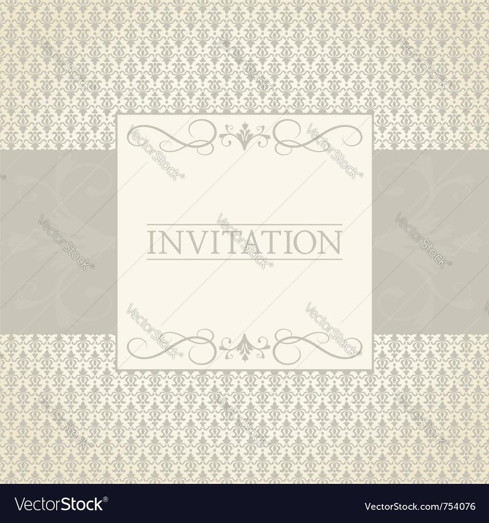 Invitation template vector | Price: 1 Credit (USD $1)