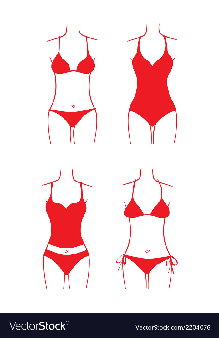 Ladies swimsuit vector | Price: 1 Credit (USD $1)