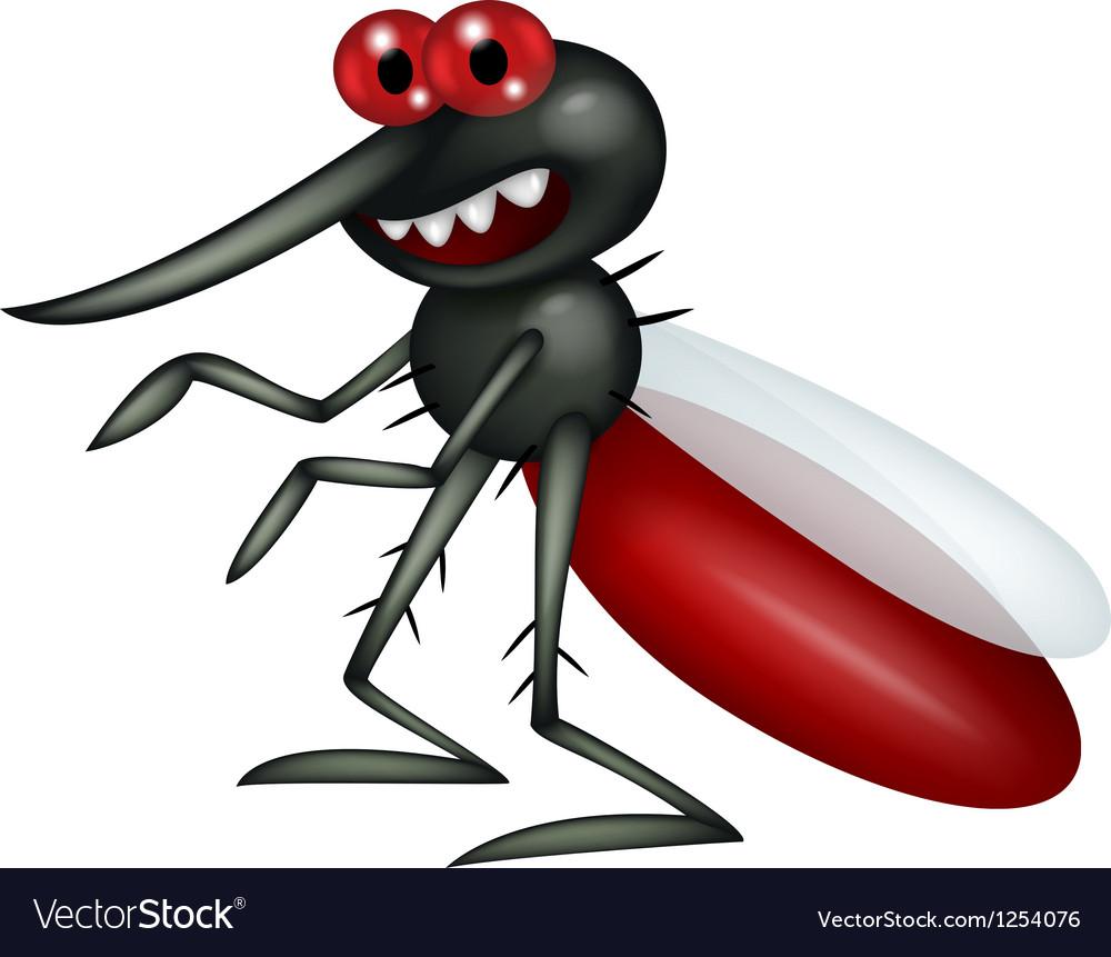 Mosquito cartoon vector | Price: 1 Credit (USD $1)