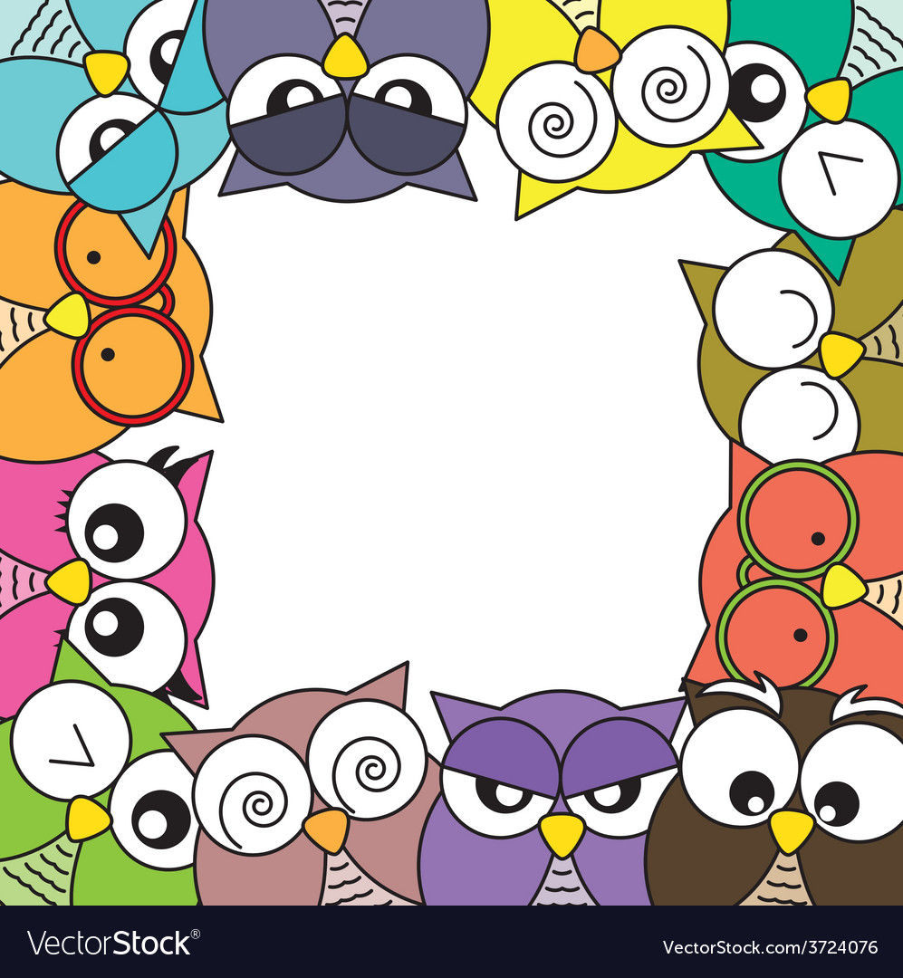 Owls card vector | Price: 1 Credit (USD $1)