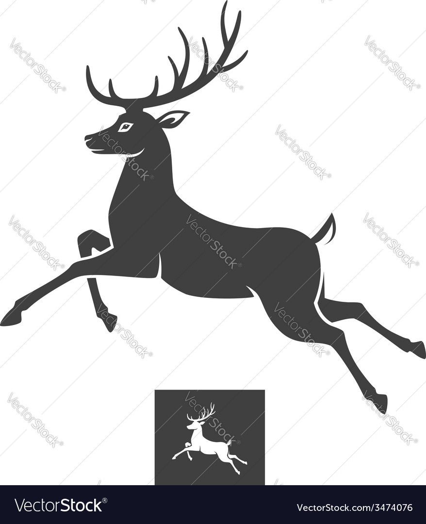 Running deer vector | Price: 1 Credit (USD $1)