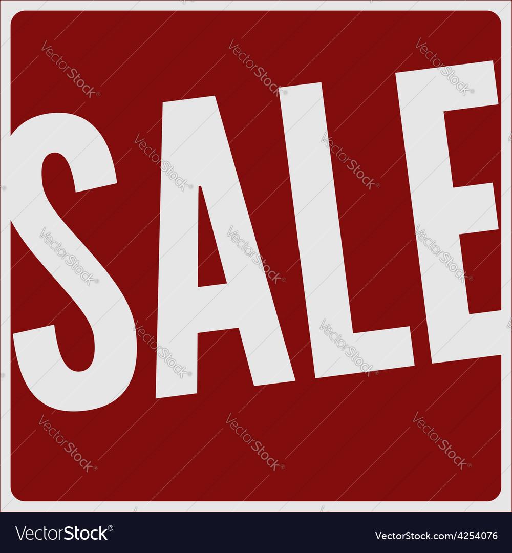 Sale big red banner vector | Price: 1 Credit (USD $1)
