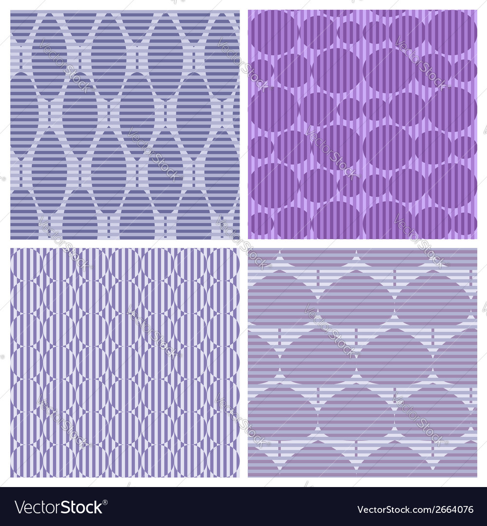 Set of 4 abstract seamless pattern vector | Price: 1 Credit (USD $1)