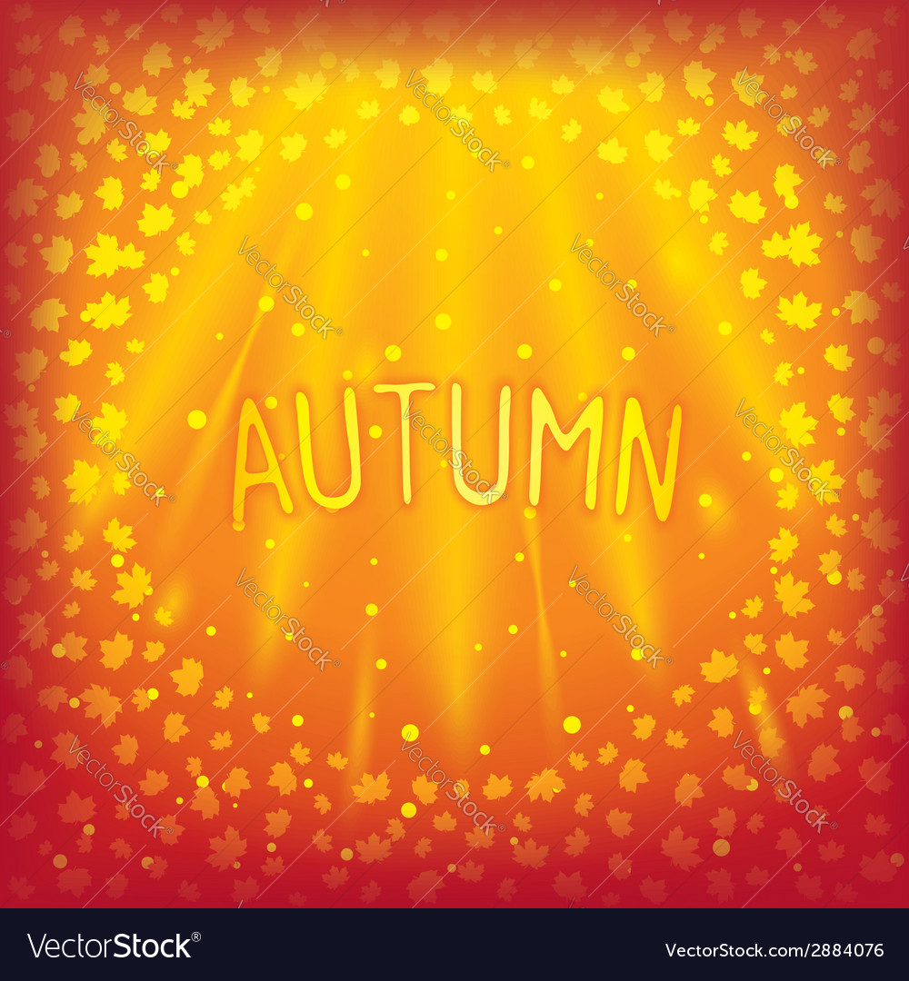 Sunny sparkling autumn inscription vector   Price: 1 Credit (USD $1)