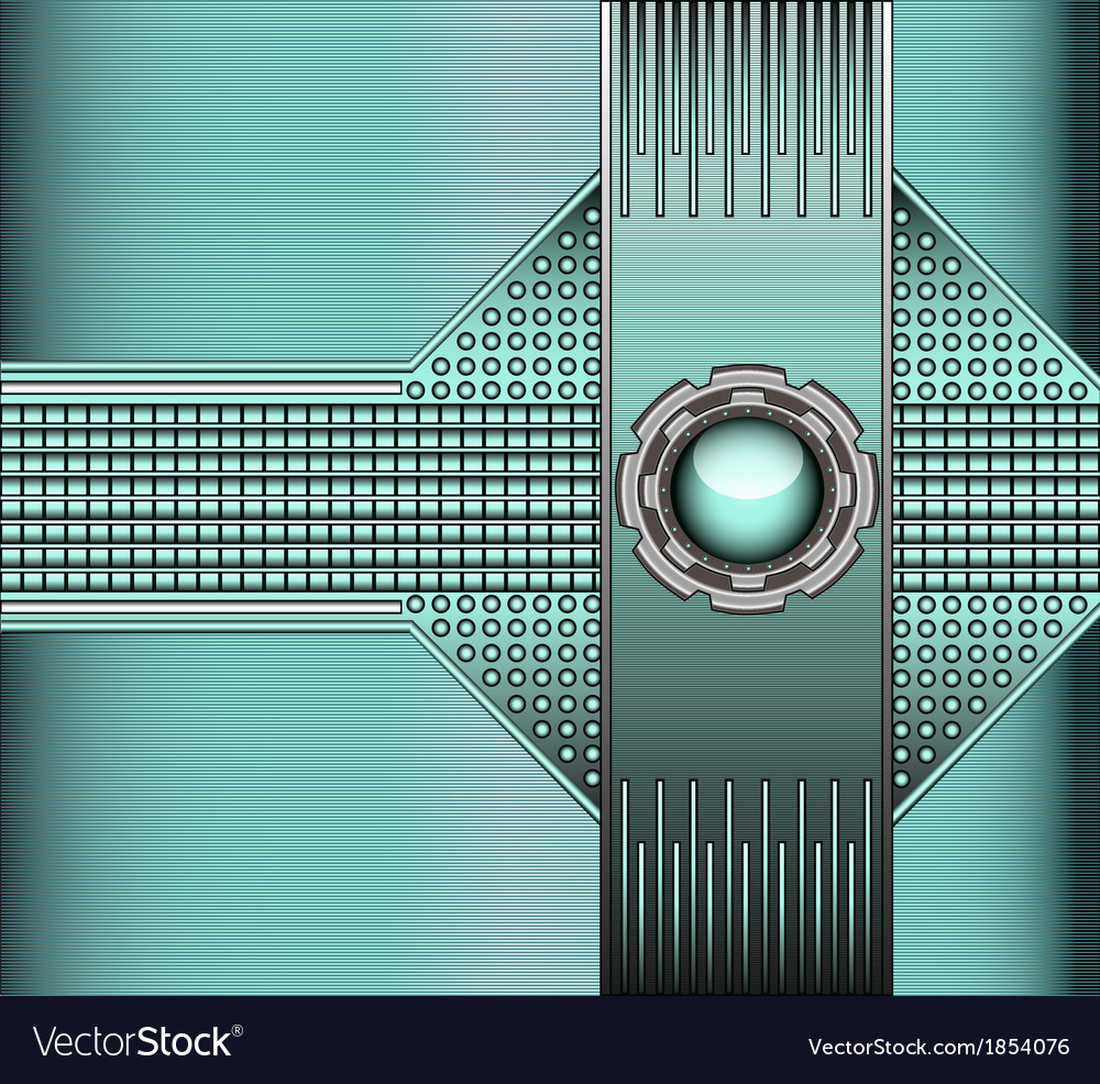 Technical background with metallic vector | Price: 1 Credit (USD $1)