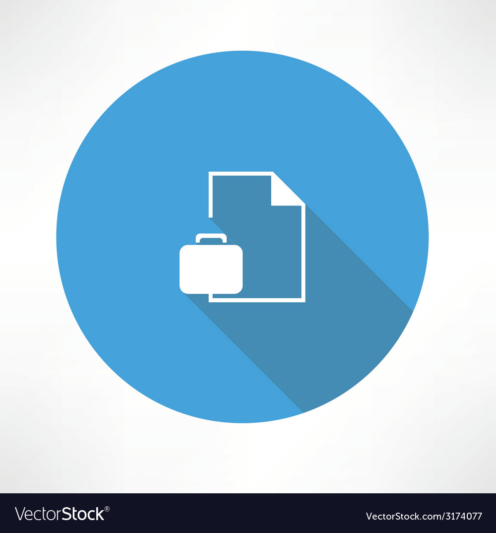 Business briefcase with document vector | Price: 1 Credit (USD $1)