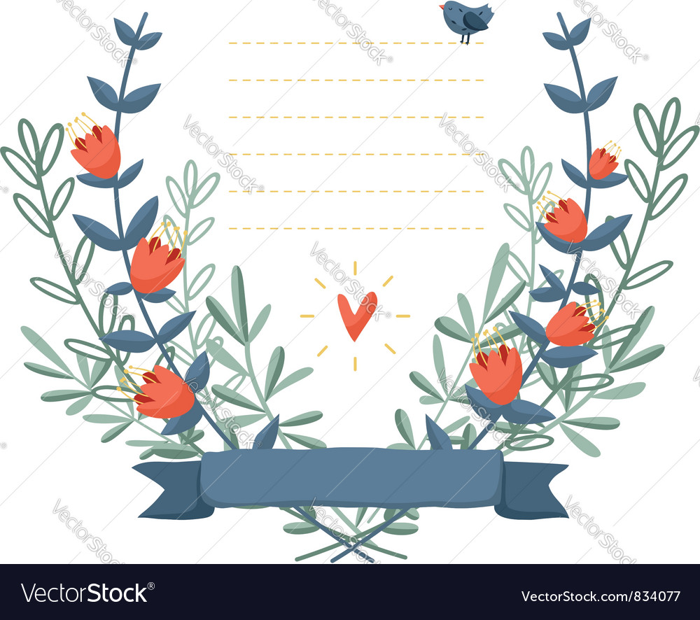 Flower frame background vector | Price: 1 Credit (USD $1)