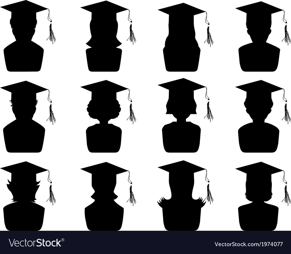 Graduation head icons vector | Price: 1 Credit (USD $1)