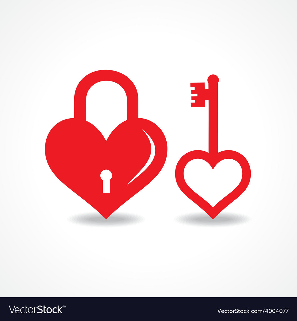 Love lock and key design vector | Price: 1 Credit (USD $1)