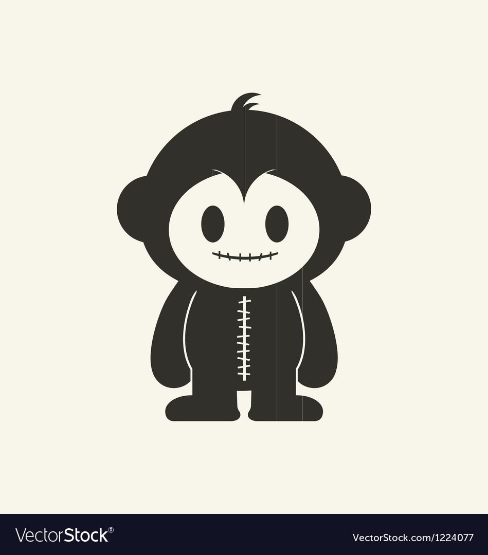 Monkeystein 1 vector | Price: 1 Credit (USD $1)