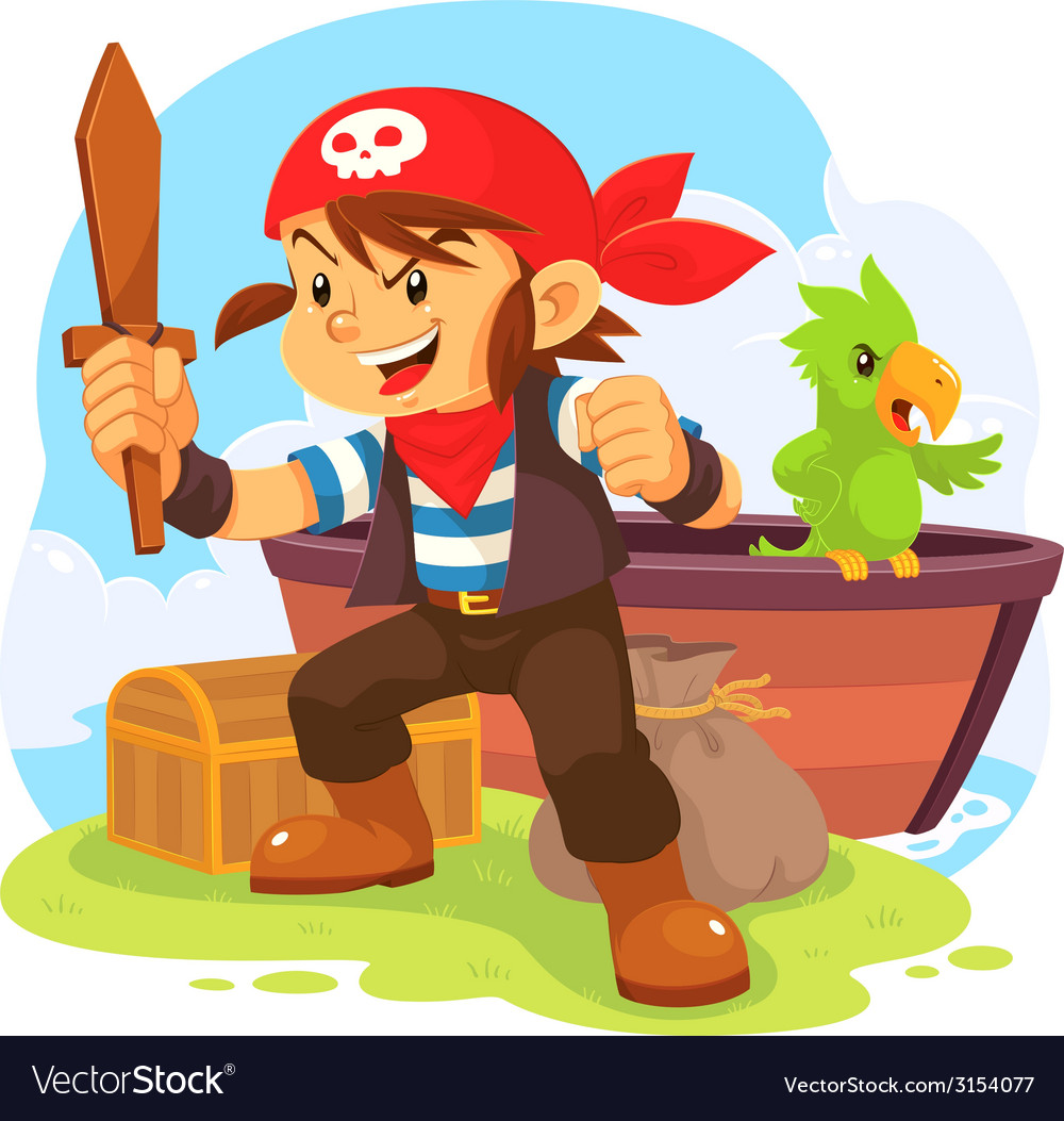 Pirate boy vector | Price: 1 Credit (USD $1)