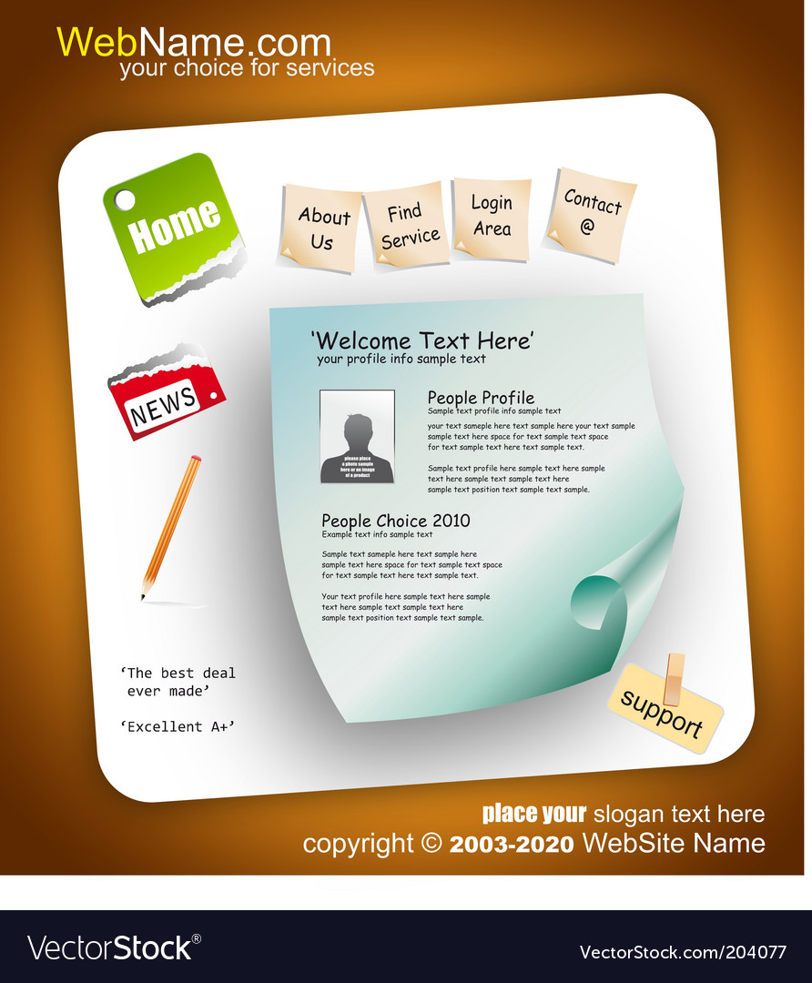 Website template vector | Price: 3 Credit (USD $3)