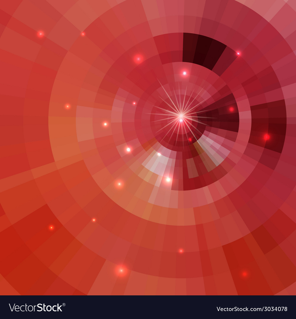 Abstract shining circle tunnel vector | Price: 1 Credit (USD $1)