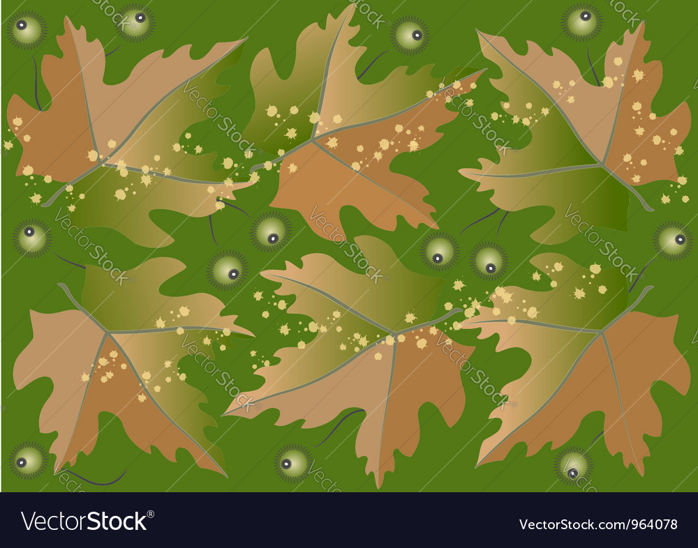Background from autumn leaves vector | Price: 1 Credit (USD $1)
