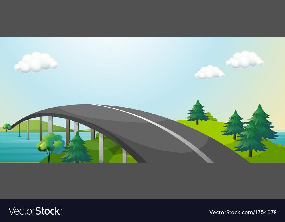 Bridge connecting vector | Price: 1 Credit (USD $1)